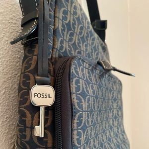 Black and Tan Fossil Purse